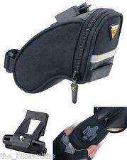 Topeak Micro Aero Wedge TC2470B Bike Seat Bag w/Fixer QuickClick QR Pack Black
