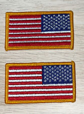 New listing Vintage Us Military Usa Flag Arm Patch - New 2x3 lot of 2