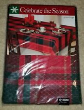 New Celebrate The Season 70 inch Round Christmas Tablecloth