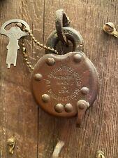 "Vintage 1877 Patent  Smith & Egge Co. ""Giant"" Padlock Original Key Antique Lock"