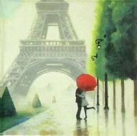 4x Paper Napkins for Decoupage Decopatch Craft Paris Romance