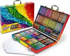 Crayola 140 Count Art Set, Rainbow Inspiration Art Case, Portable Art Coloring
