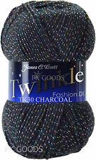 James C Brett Twinkle Postage Double Knit Glitter Knitting Wool Yarn Tk15 - Fushia Pink5