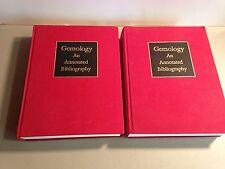 Gemology, An Annotated Bibliography by John Sinkankas. Volume 1 & 2 Complete set
