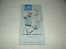 Russell Henley Hand Signed The Honda Classic 2015 Pairings Guide Golf Autograph