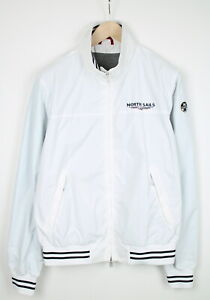 NORTH SAILS Men's X LARGE Thin Lightweight White Bomber Jacket 37927-GS