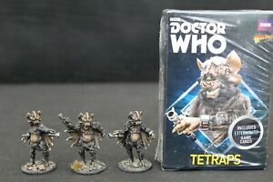 Doctor Who Tetraps expansion set Warlord Games with well painted miniatures