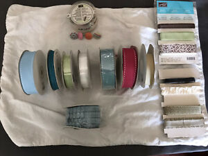 Stampin' Up Ribbon Lot with fabric brads