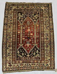 ca.1930 Old Antique Handmade Caucasian Shirwan rug 5,3x3,9 Ft