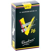 Vandoren Alto Sax V16 Reeds Strength 2.5 Box of 10