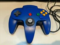Nintendo 64 Controller Blue Authentic Official Tested OEM Clean Tight Stick!