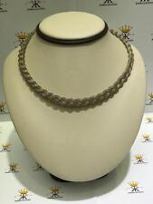 18k Two Tone Gold Sterling Silver Italian Mesh Hand Made Choker Necklace Gift
