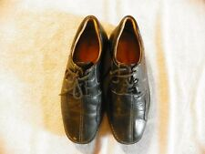 JOHNSTON & MURPHY LEATHER LACE UP OXFORD SHOES CASUAL BLACK MENS SIZE 8 1/2 M