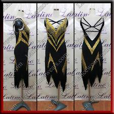 Beaded Fringescustom Designed Latin Rhythm Salsa Competition Dance Dress Vl506