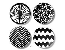 Marimekko For Target 4 Pack Melamine Salad Plates Black And White Round