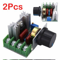 2Pcs 50-220V 2000W AC Motor Dimmers SCR Controller Knob Switch Speed Control Set