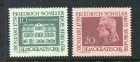 31321) DDR 1959 MNH Friedrich Von Schiller 2v