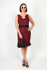 Femmes Bordeaux Prune prochaine Shift Dress-Formal mariage/bureau Occasion Robe
