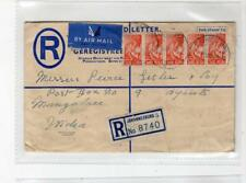 SOUTH AFRICA: 1946 Uprated Registered postal stationery to India (C36454)
