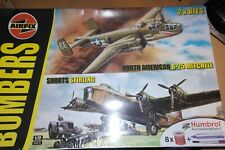 AIRFIX 1:72 BOMBERS GIFT SET NORTH AMERICAN B-25 MITCHEL & SHORTS STERLING