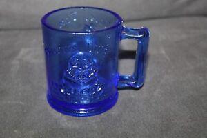 Vtg TOM TOM Piper's Sun COBALT BLUE Humpty Dumpty GLASS Mug STEIN