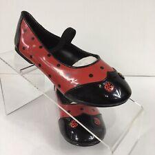 Funtasma Girls Size 13-1 M Patent Ladybug Mary Jane Flats NEW