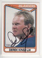 DEREK KING NEW YORK ISLANDERS AUTOGRAPHED CARD