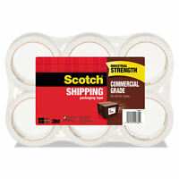 """Scotch 3750 Commercial Grade Packaging Tape 1.88"""" x 54.6yds 3"""" Core Clear 6/Pack"""