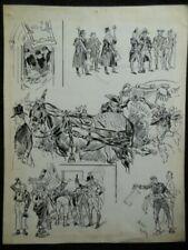 Vintage Cartoons & Caricatures Signed Art Prints