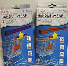 1 Red and 1 Purple Klear Shopping Cart Handle Wrap