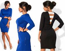 Neu Kleid Abend Damen Mode Party Freizeit Sommer Knielang  XS S M L 34 36 38 40