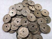 Lote 5 monedas de 25 céntimos 1934 2º República Española XF+ a VF- Spain coin