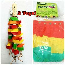Feather Land Bird Toy Chewing Wood Natures Instincts Parakeet Cockatiel Conure