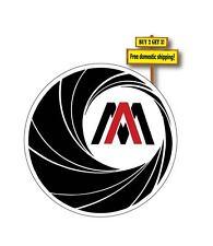 "Automag Auto Mag Decal/Sticker Logo Gun Dirty Harry Handgun Rights 5"" diameter"