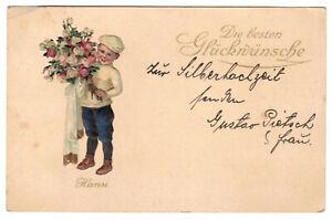 Präge Ak Hansi Rüger Die besten Glückwünsche 1911 ! (A4116