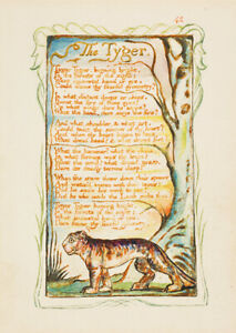 The Tyger William Blake wall art poster print A6 A5 A4