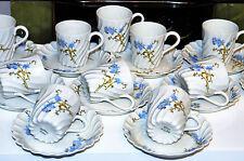 SERVICE A CAFE 12 tasses  soucoupe PORCELAINE  LIMOGES HAVILAND TORSADE 19 EME