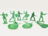 Lot of (9) Vintage Cowboys & Indian Plastic Figures Similar Marx's Toys Playset