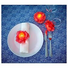 New Ikea Solvinden 3 Flower Napkin Rings Battery Operated Led Party Light Dec