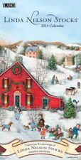 2019 Lang Linda Nelson Stocks Folk Art Vertical Wall Calendar by L.N. Stocks NEW