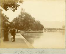 Suisse, Thun, Bords de l'Aar, ca.1900, vintage citrate print Vintage citrat
