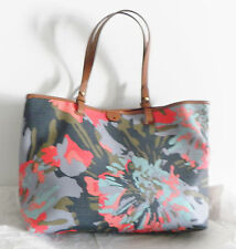 NWT Fossil Rachel PVC Tote Blue Floral ZB6818452
