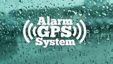 4X ALARM GPS SYSTEM VINYL DECAL STICKER DIECUT SIGN Security Car Van Windows