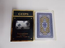 GEIPS 708 100% All Plastic Bridge Size Playing Cards Deck in Case Holder - Blue
