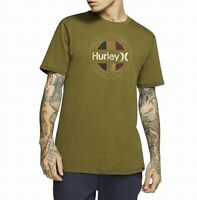 Hurley Mens T-Shirt Green Size 2XL Resistance Logo Crewneck Graphic Tee $25 443