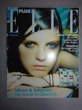 Magazine mode fashion ELLE PLUS Deutsch april 2000 Uhren & &Schmuck