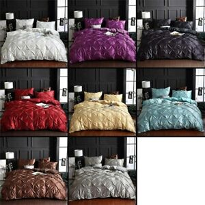 Luxury Solid Silk Comfortable Quilt Cover Adult Bed Bedding Linens