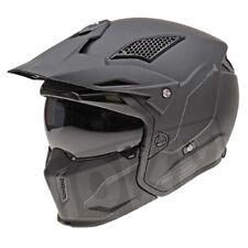 Mt motocicleta Casco trial Streetfighter SV negro mate en S-XL