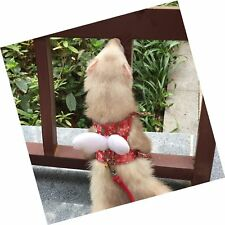 Ferret Harness and Leash Adjustable, Sakura Cotton Cloth Ferret Walking Vest,.