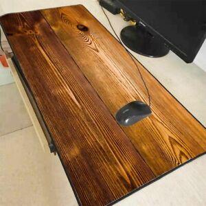 Keyboard Mouse Pad Brown Wood Texture Speed Gaming Laptop Mat Computer Mousepad